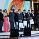Церемония награждения российских саночников