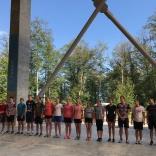 построение участников тренировочного мероприятия, СБТ в Красной Поляне