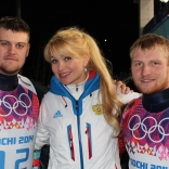 Президент ФССР Наталия Гарт и двойка Денисьев и Антонов