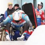 Соревнования мужчин на двухместных санях на ЧР в Парамоново
