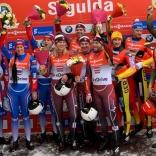 Сборная России - серебряный призер этапа Кубка мира в эстафетной гонке