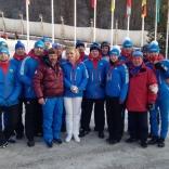 Сборная по санному спорту после стартов в Сигулде