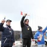 Награждение призеров ЧР по санному спорту в Парамоново