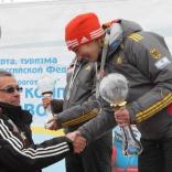 Награждение Татьяны Ивановой и других на чемпионате Европы по санному спорту в Парамоново!