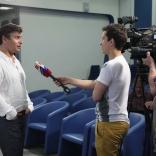Интервью для телеканала
