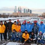 Спортсмены из других страны на экскурсии по Москве