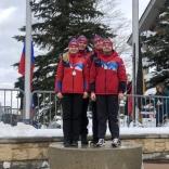 Эстафетная команда, серебряные призеры первого этапа Кубка мира - сборная России