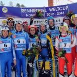 Победители и призёры командных соревнований: Италия, Россия, Австрия