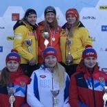 Награждение - юниорки (Татьяна Цветова - 4 место, Юлия Наумова - 5е место, Кристина Шамова - 6 место)